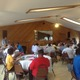Bordentown Township Mayor Stephen Benowitz addresses the crowd.