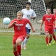 Sophomore midfielder Jack Bicknell chases down a 50/50 ball.