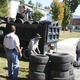 Scores of tires were donated during last weekend's 6th Annual Zero Waste Day in Tewksbury.