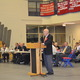 Superintendent of Schools Dr. John O'Connor speaks at the Special Town Meeting.