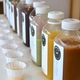 An array of juices available at Pressed Juicery