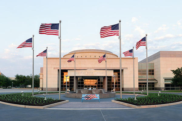 George Bush Presidential Library and Museum at College Station. Photo courtesy of Jujutacular via Creative Commons