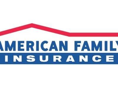 Amfam large loge bluered