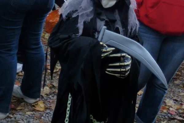 6 yr old Joshua as the Grim Reaper, entered by Melissa Johnson.
