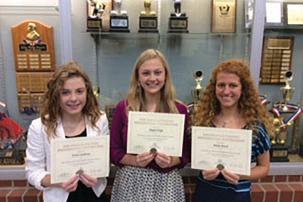 Ronald Regan Student Leaders Teresa Leatherow, Abigail Sledge and Bailyn Bench