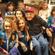 Daisy Troop 66309 visits with Sol Eskin.