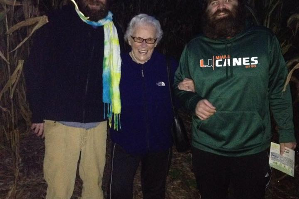 """Nan and 'the beards' - 2/4 generations pictured."" Photo courtesy of Jen Phillips."