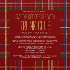 Trunk Club Mens Outfitter - Pop Up Shop - start Dec 09 2014 1100AM