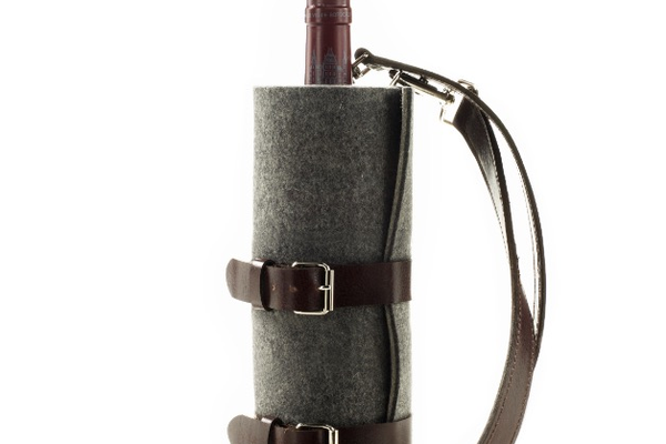 Graf and Lanz Wine Carrier, $140 at Talisman Collection, 4357 Town Center Boulevard, Suite 118, El Dorado Hills. 800-274-9868, talismancollection.com.