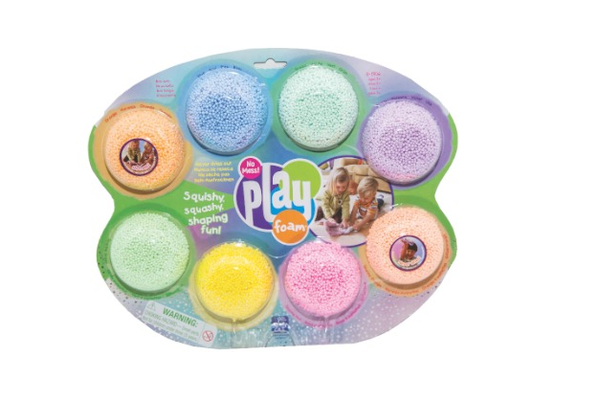 Play Foam, $9.50 (8-pack) at Kiddlywinks, 262 Main Street, Placerville. 530-642-2671, facebook.com/kiddlywinkstoystore.