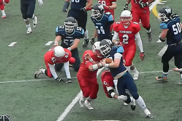 James Sullivan and Andrew Nguyen combine on a tackle