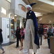 Is the mall ceiling tall enough for this man?