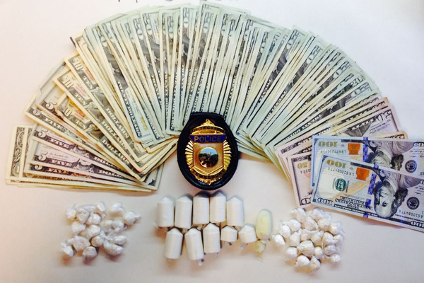Money and drugs confiscated during the arrest of Angel M. Rivera-Soto.