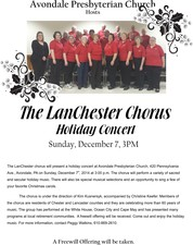 Lanchester Chorus Christmas Concert - start 12072014 0300PM