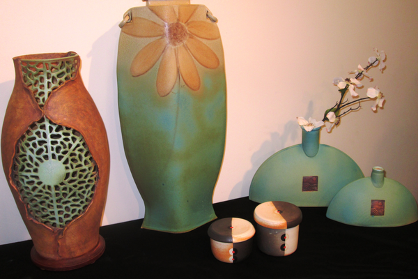 Lamps and vases by Ki Crittenden.