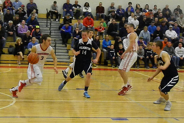 Alex DiRocco (3) steals the ball against Wilmington.