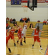 Shannon Smith (40) powers up for two points.
