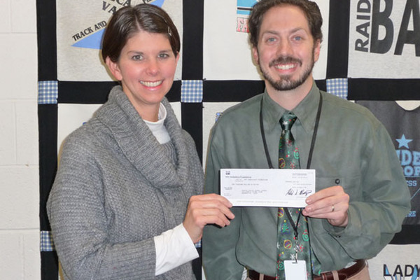 Winter Receives $1,000 for Classroom from PELC