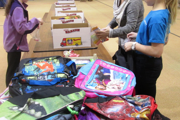 Backpacks were filled with new school supplies at Hillendale Elementary and given to La Communidad Hispana.