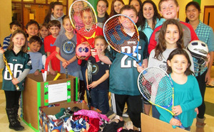 Families at Pocopson Elementary School donated sports equipment