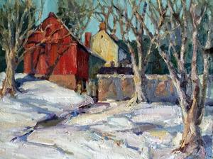 Winter Barn by Jacalyn Beam