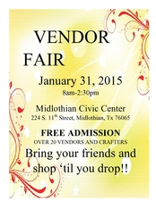 Vendor Fair - start Jan 31 2015 0800AM