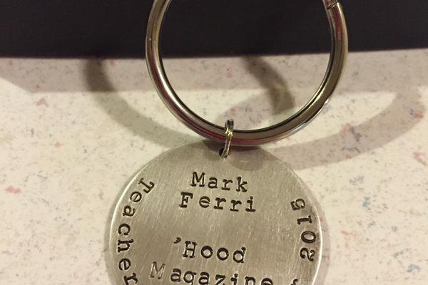 Say Anything Jewelry made a great keepsake for Mr. Ferri