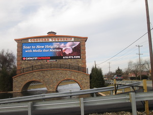 This digital billboard on Route 202 near the Delaware border is the kind of structure thats being hotly debated in Lower Oxford Township