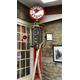 An old gas pump at the Lincoln Highway Experience Museum