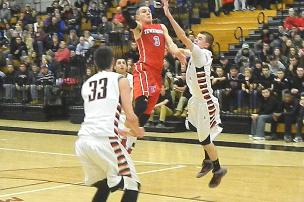 Alex DiRocco (3) powers down the lane for two points.