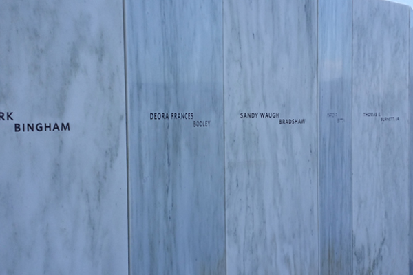 Names of the heroes who died on Flight 93 during the Sept. 11 terrorist attack.