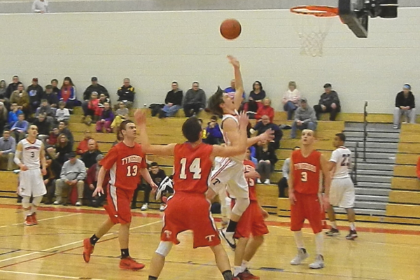 Nate Tenaglia (4) scored nine points and added eight assists against Tyngsboro.