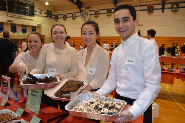 Kennett High School students Lilly Clark, Phoebe Hertler, April Lin and Arshia Faghri were among the many volunteer servers at the festival.