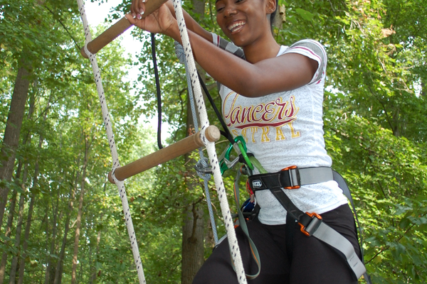 Climbing is just one aspect of the Go Ape course.