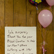 A sign thanking donors at the door of the blood drive held Monday, Feb. 9 at Hope Hose Humane Fire Co. No. 1.