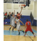 Joe Csokmay goes up for two of his 10 points against Dracut.