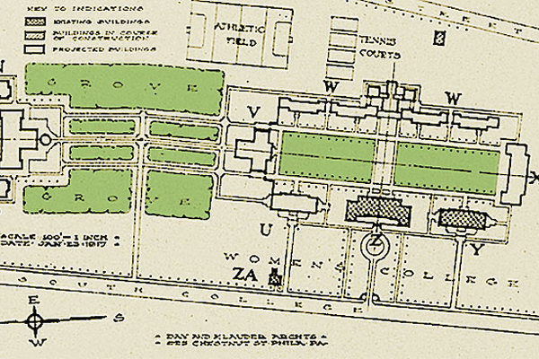 Courtesy of the University of Delaware An architectural rendering of the South Campus, circa 1917.