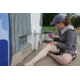 Courtesy photo Leathrum at work on a mural.