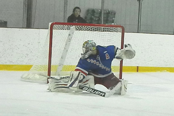 Senior goaltender Kyle Paquette stopped all 22 shots he faced against Wilmington.