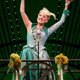 "Tiffany Haas as Glinda singing ""Thank Goodness"" in ""Wicked"" on Broadway."