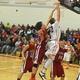 Justin Derrah (42) scored 11 points and grabbed nine rebounds against Gloucester.