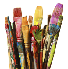 Medium paintbrushes