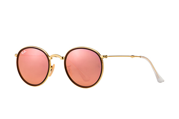 Round Folding Flash Lenses by Ray-Ban - $220