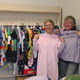 Carol Sturtevant and Joanne Kenney model some of the pajamas collected for Community Given Tree.