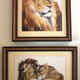 These two watercolors of lions started the Dixon art collection in 1976.