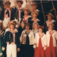 The 1987 production of 'HMS Pinafore' was the stage debut of Janet Ables (in the center, with the blue tie).