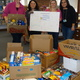 Dewing Elementary School PAC members Sara Cohen, Cheryl Barnes, Liane Daigle and Sheilla Castillo organized, packed up and delivered the student's donations for the Tewksbury Community Pantry at the end of Dewing's successful week-long food drive last week.