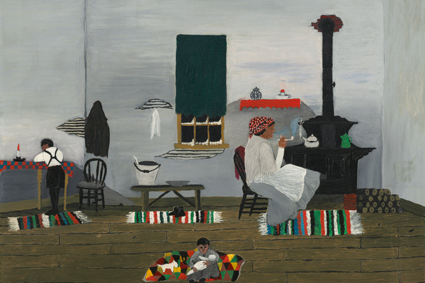 'Interior' (1944), oil on fabric, 24 1/8 x 30 3/16 in., National Gallery of Art, Washington, DC. Gift of Mr. and Mrs. Meyer P. Potamkin in honor of the Fiftieth Anniversary of the National Gallery of Art, 1991.