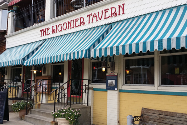 The Ligonier Tavern, located in a turn-of-the-century Victorian home