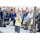 A young lad enjoyed getting up close to the stage and presenters. Photo by Brad Jacobson.
